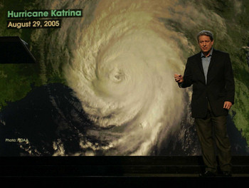 Does this hurricane make me look fat? Al Gore in 'An Inconvenient Truth'