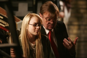 Lindsay Lohan and Garrison Keillor in 'A Prairie Home Companion'